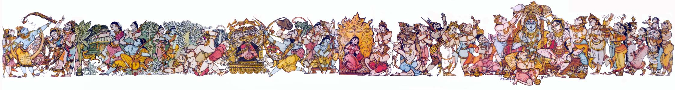 Ramayana Painting by Bapu